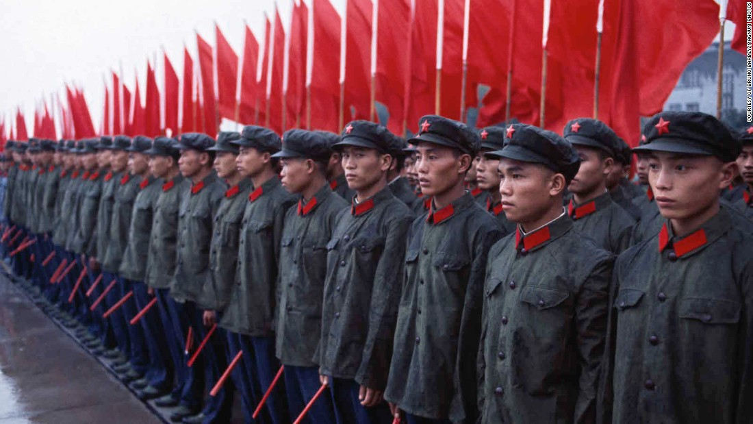 French master photographer Bruno Barbey of Magnum Photos was one of a handful of foreign journalists allowed into China during the Cultural Revolution -- and one of the only ones to shoot in color.