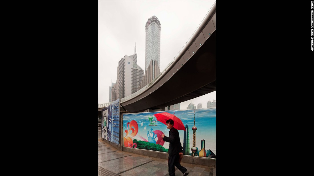 "Today, Barbey continues to photograph in China -- but modernization and pollution have changed the country's visual appearance. ""In Shanghai or Beijing, there are some days you nearly cannot see another building through the air,"" he said."