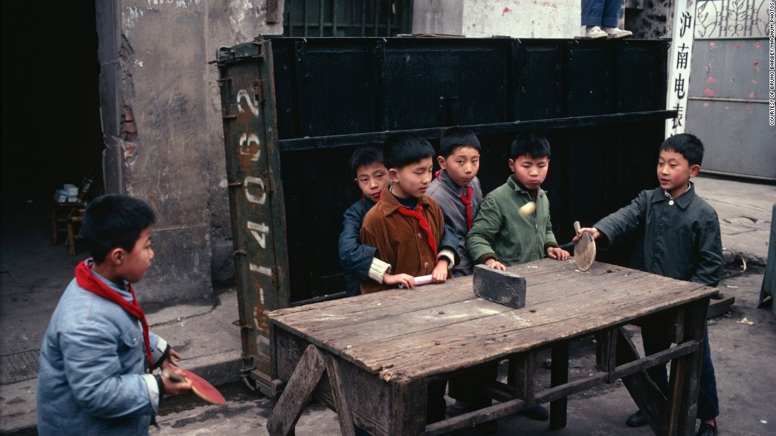 "Although Barbey, a Frenchman, was accompanied by a guard on his first visit, he was allowed to capture frank scenes of ordinary life. ""I don't think they could hide scenes of poverty and suffering,"" he told CNN. ""Because when you walk in the Shanghai streets, what can you do? They could not censor it."""