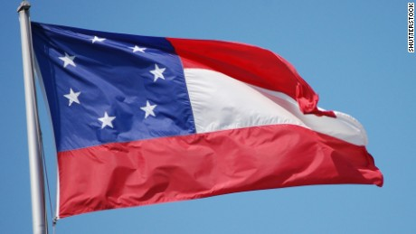 "The original national flag of the Confederacy, referred to as the ""Stars and Bars,"" was used between 1861 and 1863."