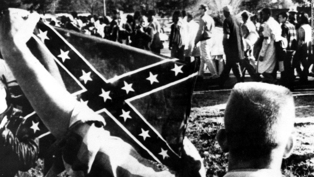 "Dixiecrats resurrected the ""Southern Cross"" flag as a political symbol around the time President Harry Truman supported efforts to end lynchings and desegregate the military in 1948. During that same period, the Ku Klux Klan began using the flag more widely."