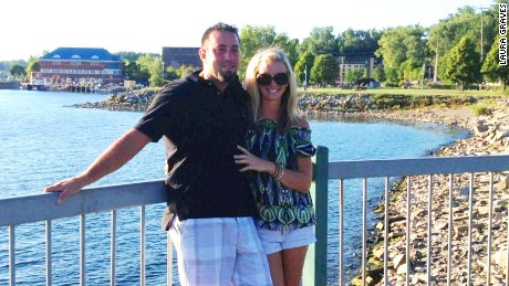 Laura Graves with boyfriend Curt Maes at Lake Champlain in Burlington, Vermont.
