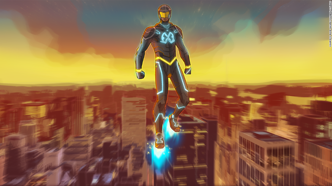 Once an impetuous young Nigerian, Wale Williams rises to the challenge of protecting Lagoon City after his father disappears. After finding a nanosuit, he gains special powers and becomes E.X.O.