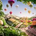 foodscapes carl warner- cart and balloons