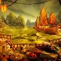 foodscapes carl warner- chinese junk
