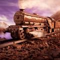 foodscapes carl warner- chocolate train