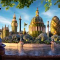 foodscapes carl warner- london skyline