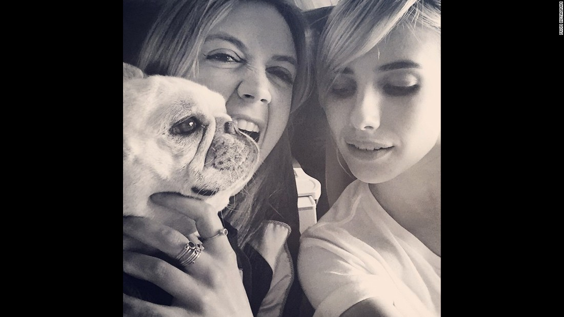 """Back to the bayou bae,"" <a href=""https://instagram.com/p/4Foj3Hi_Ao/"" target=""_blank"">wrote actress Emma Roberts,</a> right, in this selfie she posted with ""Scream Queens"" co-star Billie Lourd on Thursday, June 18."