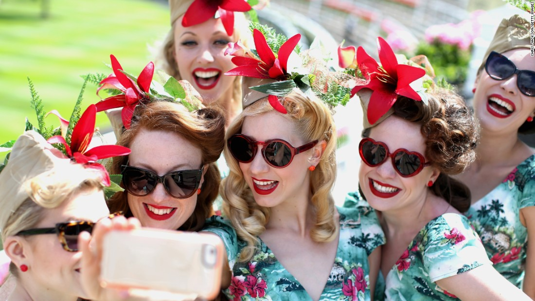 "The Tootsie Rollers band takes a selfie Friday, June 19, at the Ascot Racecourse in Ascot, England. <a href=""http://www.cnn.com/2015/06/17/living/gallery/selfies-look-at-me-0617/index.html"" target=""_blank"">See 26 selfies from last week</a>"