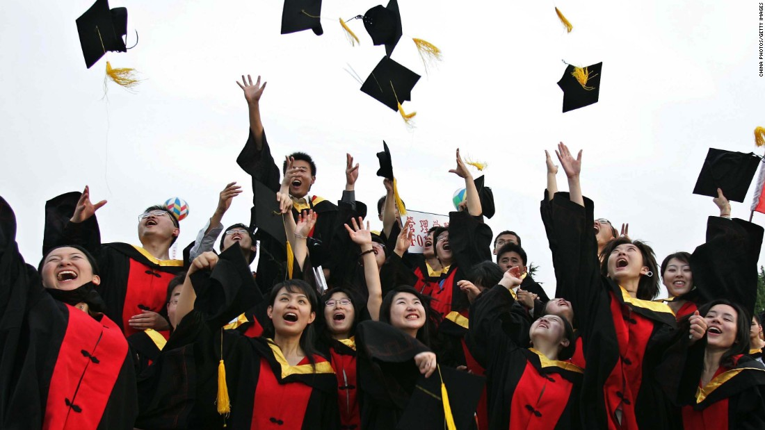 A record high of 7.5 million students graduated from college this year. However, the job market doesn't look very promising. Nearly 8% of last year's college graduates remained unemployed within six months after graduation, according to state news agency Xinhua.