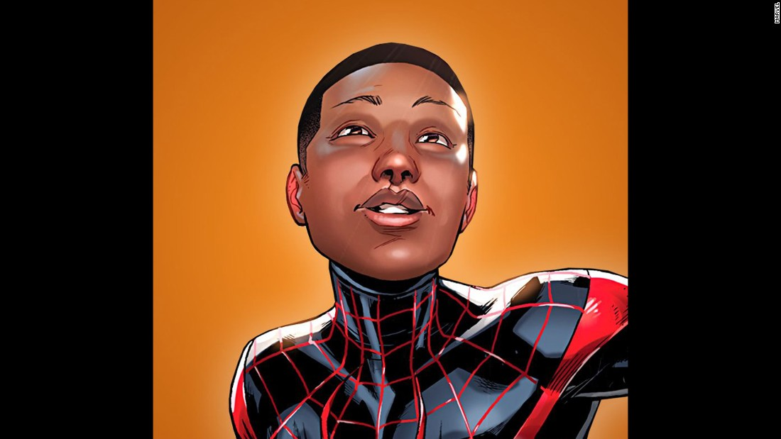 "When the first issue of the relaunched ""Spider-Man"" series hits comic book stores this fall, the face behind the mask will be <a href=""http://www.cnn.com/2015/06/24/entertainment/feat-spiderman-marvel-comics-biracial-miles-morales/index.html"">half-Latino, half-African-American character Miles Morales</a>. Morales had been the famed webslinger in the ""Ultimate"" offshoot of the popular series, but will now replace the iconic Peter Parker in a main ""Spider-Man"" series."