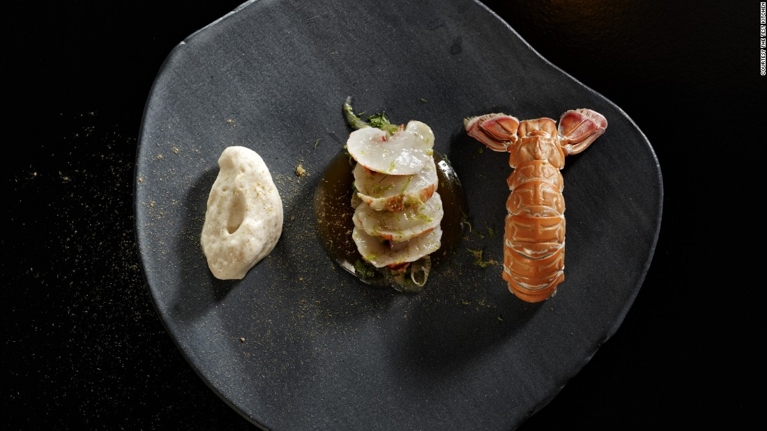 "<a href=""http://www.thetestkitchen.co.za/"" target=""_blank"">The Test Kitchen</a> in Cape Town is another restaurant thrilling diners with its flair for the dramatic. One bold dish (pictured) includes barbequed langoustine ""en gele"" and langoustine tataki with liquorice powder."
