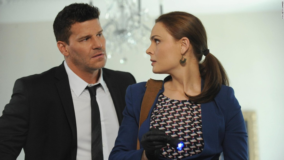 "Dr. Temperance ""Bones"" Brennan and Seeley Booth were a mismatched pair from the start, but audiences have eaten up the chemistry of Emily Deschanel and David Boreanaz."
