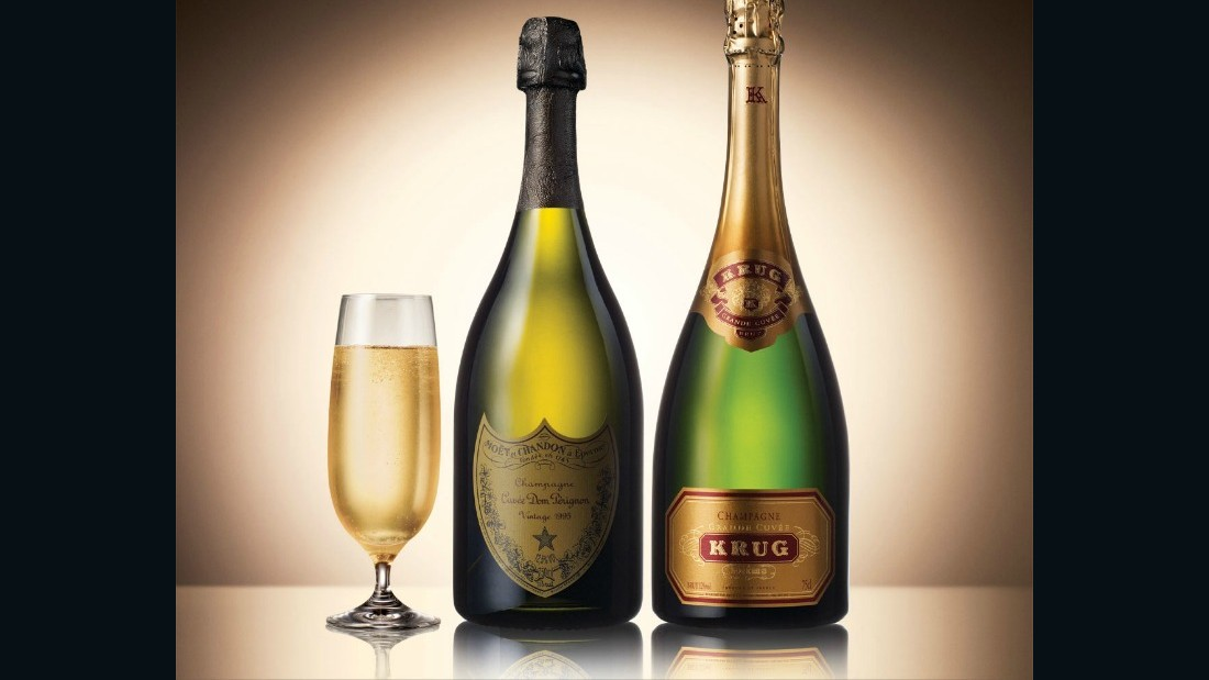 Singapore Airlines also serves Dom Perignon 2004 vintage in first class, alongside Krug Grande Cuvee. Krug says it takes over 20 years to craft each bottle, and tasting notes include toasted bread, hazelnut, nougat, barley sugar and jellied fruits.