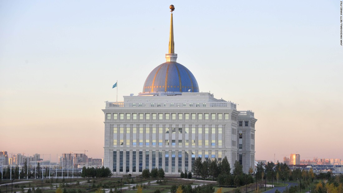 The Ak Orda (White Horde) presidential palace was built in 2004 and is the official workplace of Kazakhstan's long-serving president Nursultan Nazarbayev.
