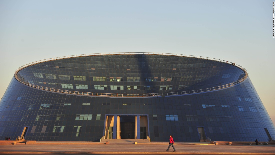 "Built as part of the Kazakh National University of Arts, the Shabyt Palace of Arts has also earned the name ""The Dog Bowl,"" among locals.<br />"