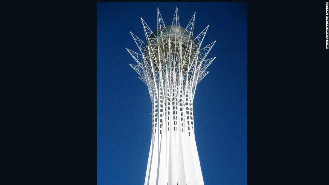 "The spectacular tower has also gained the nickname ""The Lollipop,"" among residents. <br />"