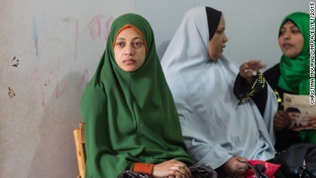 More women have undergone FGM in Egypt than any other country. Women wait to tell their stories about living with FGM at the Society of Islamic Center near Sohag, in Upper Egypt, in January 2015.