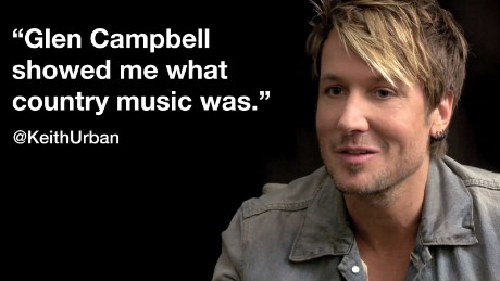 """Keith Urban in the CNN Film """"Glen Campbell ... I'll Be Me"""""""