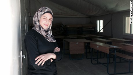 Mazoun is 16, and has been living in Azraq refugee camp in the Jordanian desert for over a year.