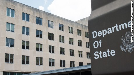 A view of the US Department of State is seen July 31,2014, where President Obama will host African Leaders August 4-6,2014 in Washington, DC for the US-Africa Leaders Summit.