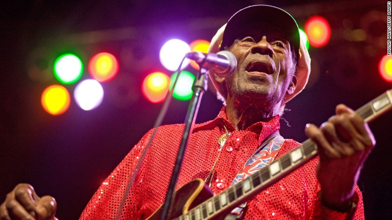 Chuck Berry performs at the Congress Theater on January 1, 2011, in Chicago.
