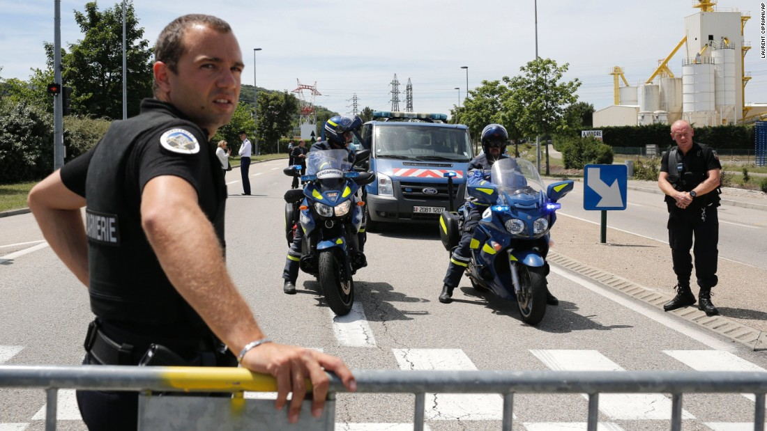 Police block the area where the attack took place on June 26.