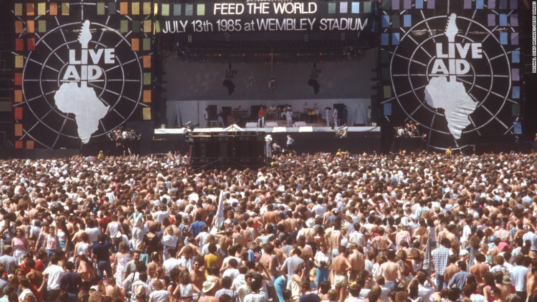 Live Aid rocked the world via satellite on July 13, 1985. At least 70 acts performed for about 162,000 fans at stadiums in London and Philadelphia. The worldwide TV audience was estimated at around 1.5 billion. The event reportedly raised $245 million in response to widespread famine in Ethiopia. Click through the photos to see what some of the performers have been up to 30 years later: