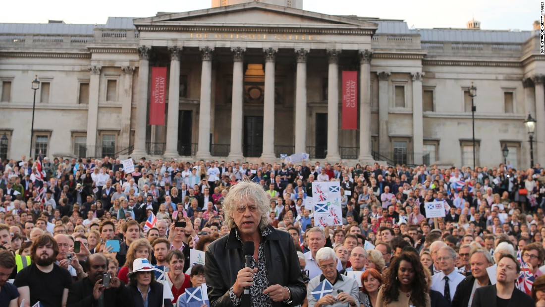 "The success of Live Aid led to co-founder Bob Geldof receiving an honorary knighthood in 1986. He has continued his activism while investing time and money in TV production businesses. Geldof, now 63, is shown here in 2014 <a href=""http://www.telegraph.co.uk/news/uknews/scottish-independence/11098505/Bob-Geldof-faces-backlash-as-he-pleads-with-Scots-not-to-break-up-family.html"" target=""_blank"">urging Scots not to break away</a> from the British government."