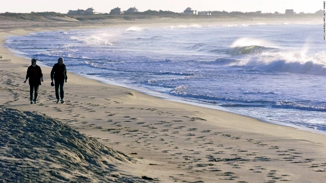 On the southern shore of Nantucket, Surfside Beach (pictured) is one of the town's most popular spots for picnics, surfcasting and, of course, long slow walks.