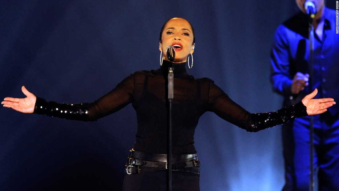 "It's hard to follow Sade, seen here in 2011. The singer who performed ""Your Love Is King"" and other songs at Live Aid openly admits she ""avoids celebrity."" <a href=""http://www.reuters.com/article/2012/05/24/entertainment-us-sade-idUSBRE84N0SO20120524"" target=""_blank"">She told Reuters</a> in 2012, ""I don't consider myself a celebrity, I consider myself a songwriter and a singer -- a person who makes music.""<br />"