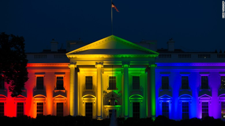 White House shines rainbow colors