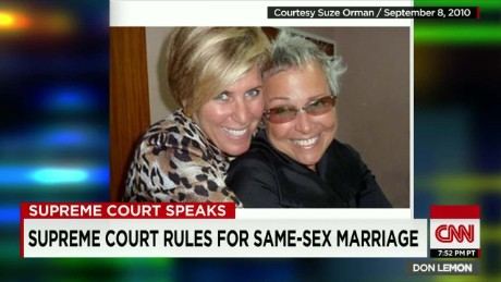 marriage equality gay marriage supreme court decision historic suze orman don lemon_00002827