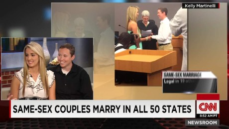Same sex couple weds moments after SCOTUS ruling