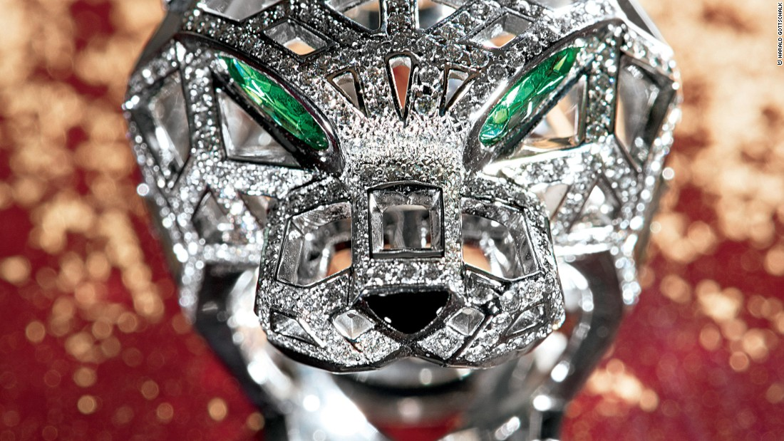 <em>Cartier Panthère</em>, a new release from luxury publisher Assouline, looks back at Cartier's iconic use of the panther in its jewelery, accessories and <em>objects d'art</em>. This ring is made from white gold, emeralds and onyx, and features 545 diamonds. <br /><br />According to Pierre Rainero, Cartier's Image, Style and Heritage director, figurative pieces like this were typically associated with actresses and prostitutes before the 1940's.