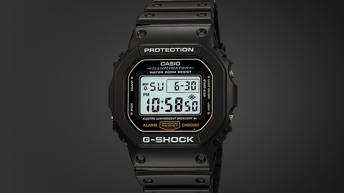 Casio famously tested this digital - first launched in 1983 -by throwing it from the top story of its Japanese HQ. Probably the toughest watch ever made.
