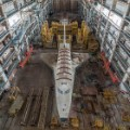 baikonur cosmodrome kazakhstan societ space shuttle top view