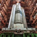 baikonur cosmodrome kazakhstan soviet space shuttle look up