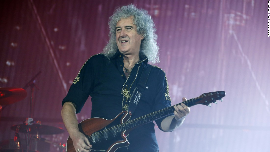 Queen's performance was hailed as a highlight of Live Aid. With a doctorate in astrophysics, lead guitarist Brian May, here in 2015, recently joined experts at the London Science Museum to discuss asteroids. An AIDS fund-raiser honoring Queen lead singer Freddie Mercury, who died in 1991 at age 45, is set for September. That same month the band is scheduled to tour South America with current lead singer Adam Lambert.