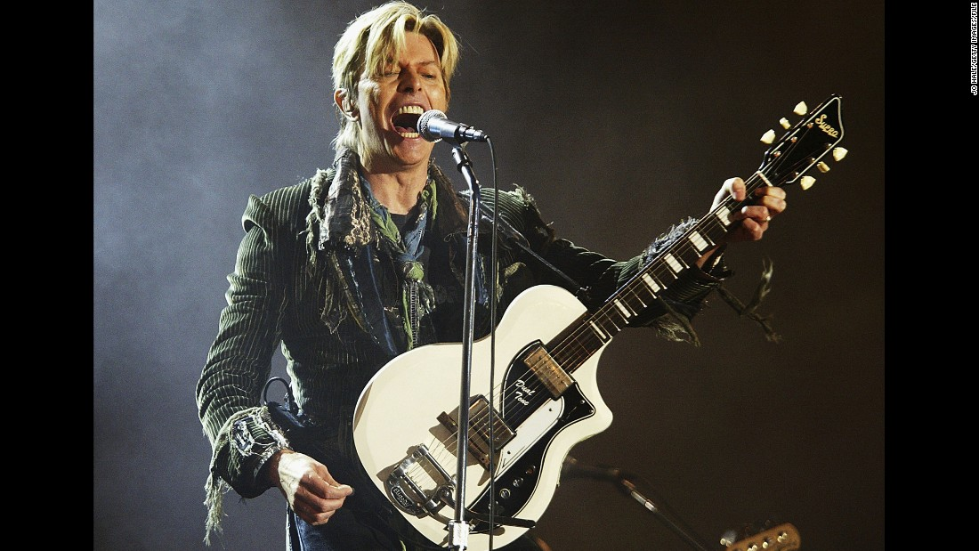 "Seen performing in 2004, Bowie sang four solo songs at Live Aid. In 2015, he <a href=""http://variety.com/2015/legit/news/david-bowie-musical-man-who-fell-to-earth-1201465256/"" target=""_blank"">reportedly</a> is co-creating an off-Broadway musical based on his 1976 film, ""The Man Who Fell to Earth."" Also, a new <a href=""http://www.standard.co.uk/news/celebritynews/david-bowie-set-to-release-another-new-track-to-mark-half-century-of-his-recording-career-9720010.html"" target=""_blank"">Bowie album of retrospective material is expected</a> this year. It's set to include a new song marking the performer's 50-year recording career."