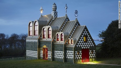 British Artist Grayson Perry's 'A House for Essex' is a conceptual holiday home and in the words of the artist a homage to the 'single mums in Dagenham, hairdressers in Colchester, and the landscape and history of Essex'.