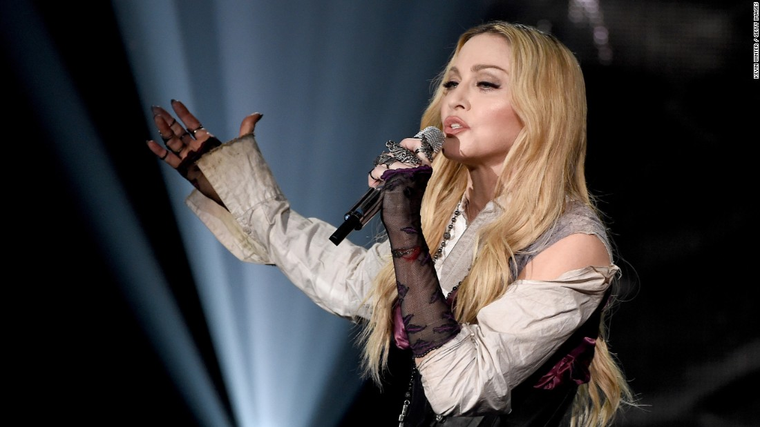 "Madonna was still relatively new to fame at Live Aid. She quipped onstage about nude photos of herself that had surfaced in Playboy. Now 56, the singer still commands attention. This year, she released a new album and performed at the Grammys. <a href=""http://variety.com/2015/music/news/grammy-madonna-outfit-photos-red-carpet-2015-1201428200/"" target=""_blank"">Her revealing outfit didn't disappoint </a>the paparazzi."