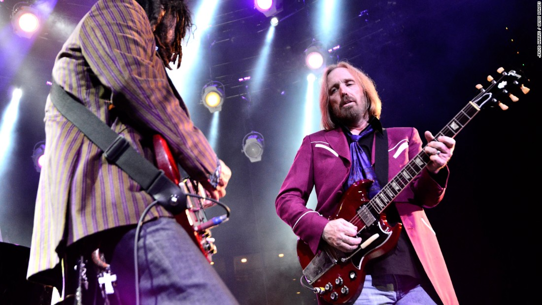 "This band chose ""American Girl"" as the first song to be played at Live Aid's U.S. venue, JFK Stadium in Philadelphia. Tom Petty, right, here playing with longtime band mate Mike Campbell in 2014, is still going strong. The band's album ""Hypnotic Eye"" debuted at No. 1 on the Billboard charts and was nominated for a Grammy."