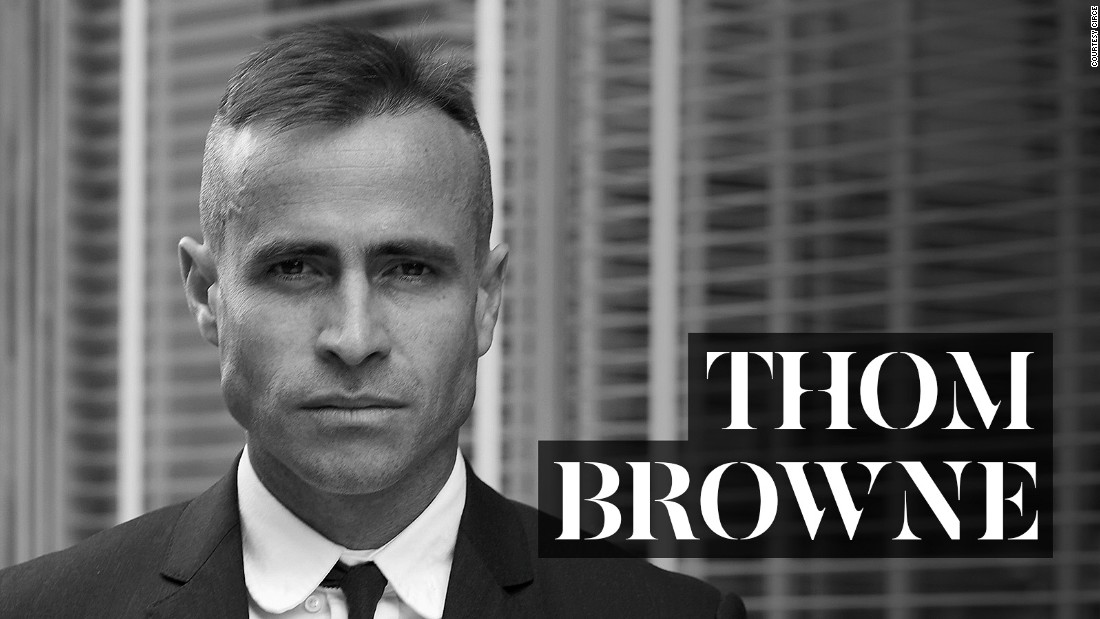 "New York designer <a href=""https://www.thombrowne.com/"" target=""_blank"">Thom Browne</a> is charged with making the shrunken suit a men's style requisite, and putting on theatrical shows worthy of Alexander McQueen. After starting his own line in 2001, he branched into womenswear in 2003. He's been creative director of <a href=""http://www.moncler.com/gb/collections/spring-summer-2015/moncler-gamme-bleu/"" target=""_blank"">Moncler Gamme Bleu</a> since 2008."