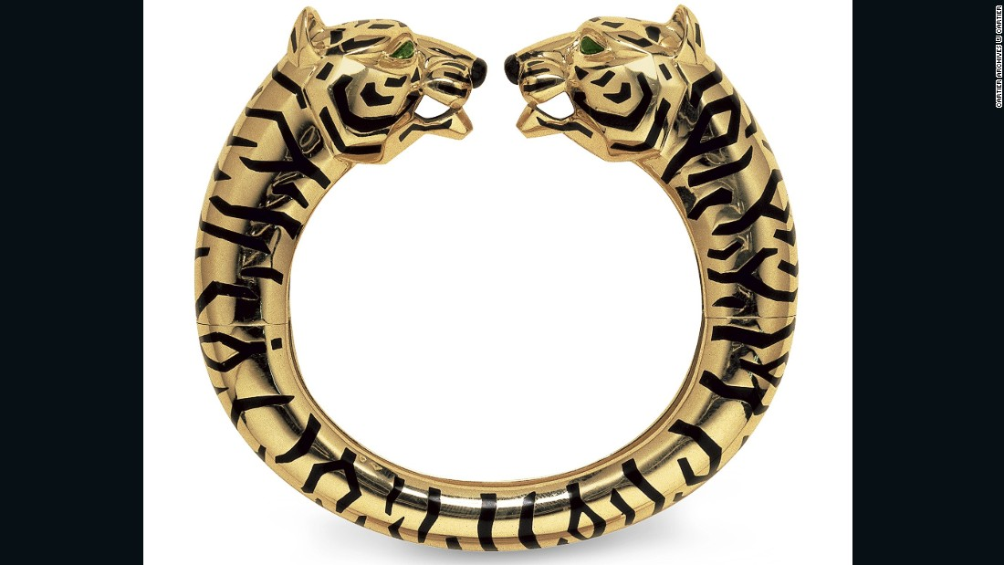 A two-headed gold bangle from the early 90s.