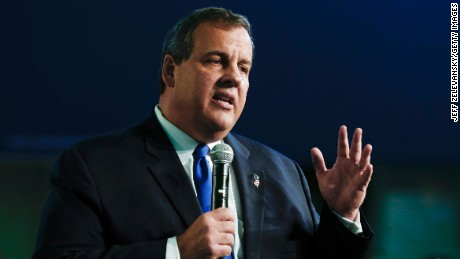 New Jersey Gov. Chris Christie announces his candidacy for the Republican presidential nomination at Livingston High School on June 30, 2015 in Livingston Twp., New Jersey.