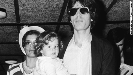 Jade Jagger (center) with parents Mick and Bianca Jagger in 1974.
