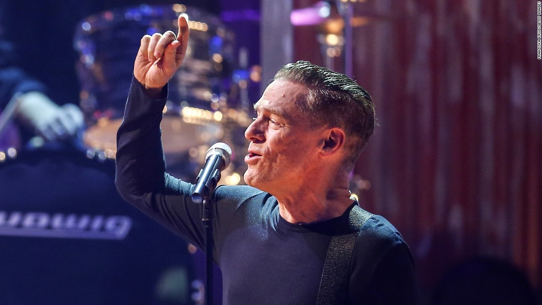 "During Live Aid, Bryan Adams' music was in heavy rotation on U.S. radio stations following release of his 1984 hit album, ""Reckless."" He played some of those songs at Live Aid, and a few years later went on to win a Grammy and an MTV Video Music Award. This year, Adams is touring to celebrate the 30th anniversary of  ""Reckless."" Here he performs in Germany in 2014."