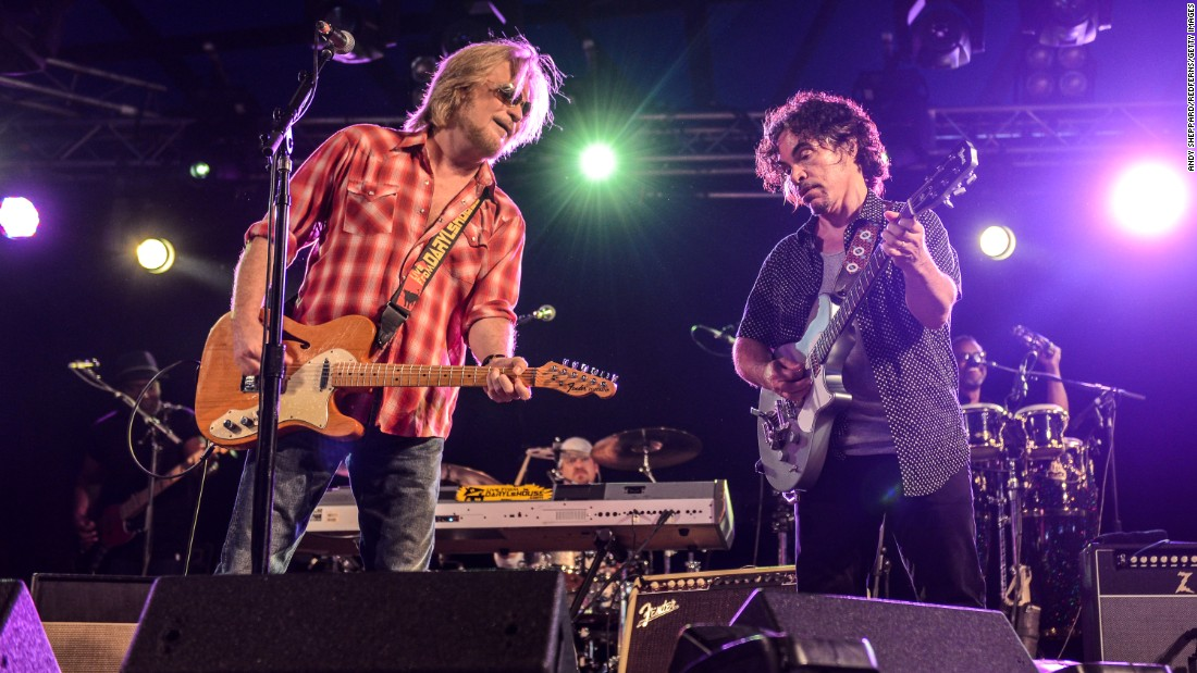 "Not only did singer/guitarist Daryl Hall, left, and singer/guitarist John Oates perform at Live Aid, they also backed up R&B legends Eddie Kendricks and David Ruffin. Hall & Oates were inducted into the <a href=""https://rockhall.com/inductees/hall-and-oates/"" target=""_blank"">Rock and Roll Hall of Fame</a> in 2014. Hall currently hosts a popular online show, ""Live From Daryl's House,"" that features him jamming with guest musicians. Here the duo performs last year at Henham Park in Southwold, England."