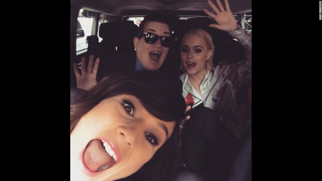 "Actress Yael Stone, left, takes a selfie with her ""Orange Is the New Black"" co-stars Lea DeLaria, center, and Taryn Manning on Monday, June 29. ""This is how freakin' excited we are to go to work!"" <a href=""https://instagram.com/p/4hArf2BmLu/"" target=""_blank"">Stone said on Instagram.</a> ""Hopefully there will be someone there to inject coffee into our eyeballs :) 